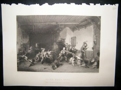 After David Wilkie 1860 Steel Engraving. Blind Man's Buff | Albion Prints